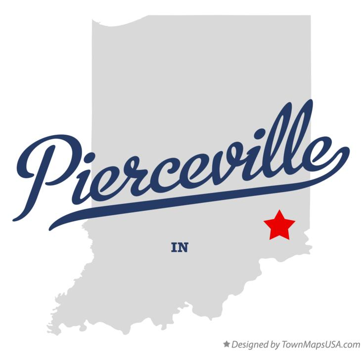 Map of Pierceville Indiana IN