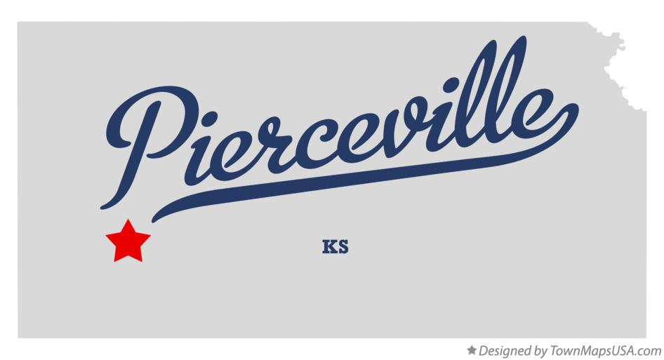 Map of Pierceville Kansas KS