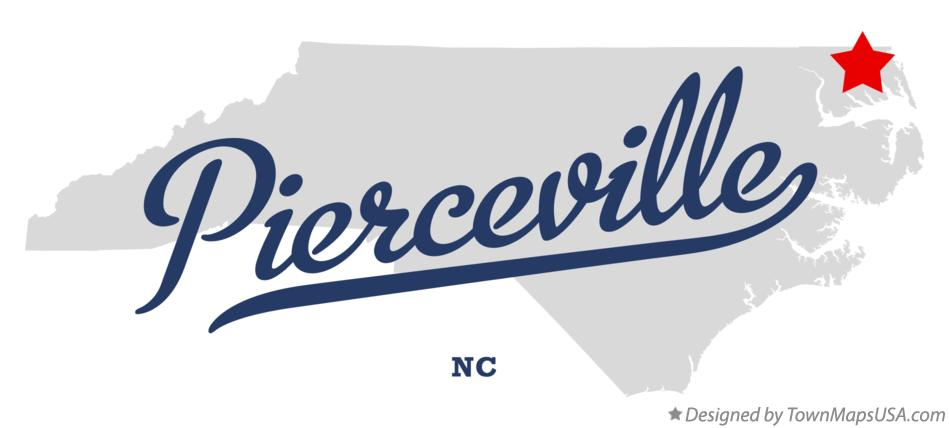 Map of Pierceville North Carolina NC