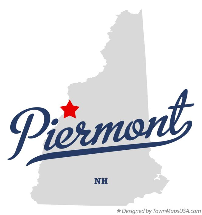 Map of Piermont New Hampshire NH