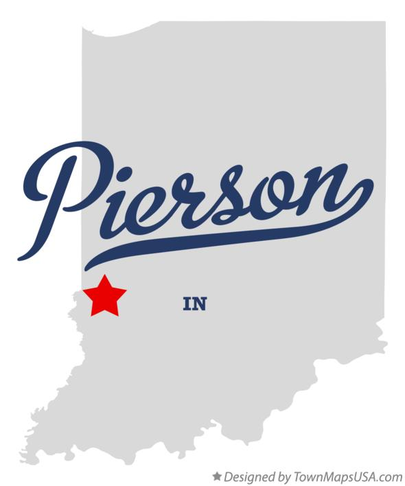 Map of Pierson Indiana IN