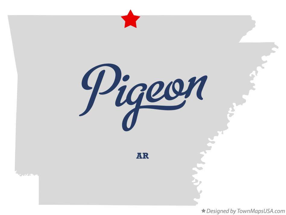 Map of Pigeon Arkansas AR