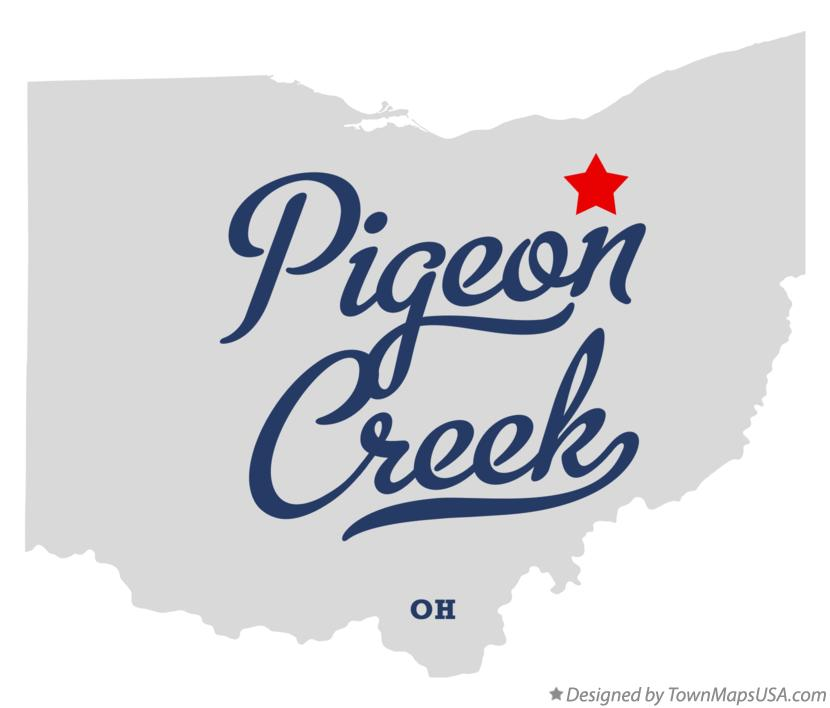 Map of Pigeon Creek Ohio OH