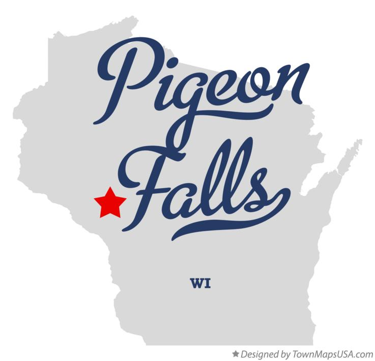 Map of Pigeon Falls Wisconsin WI