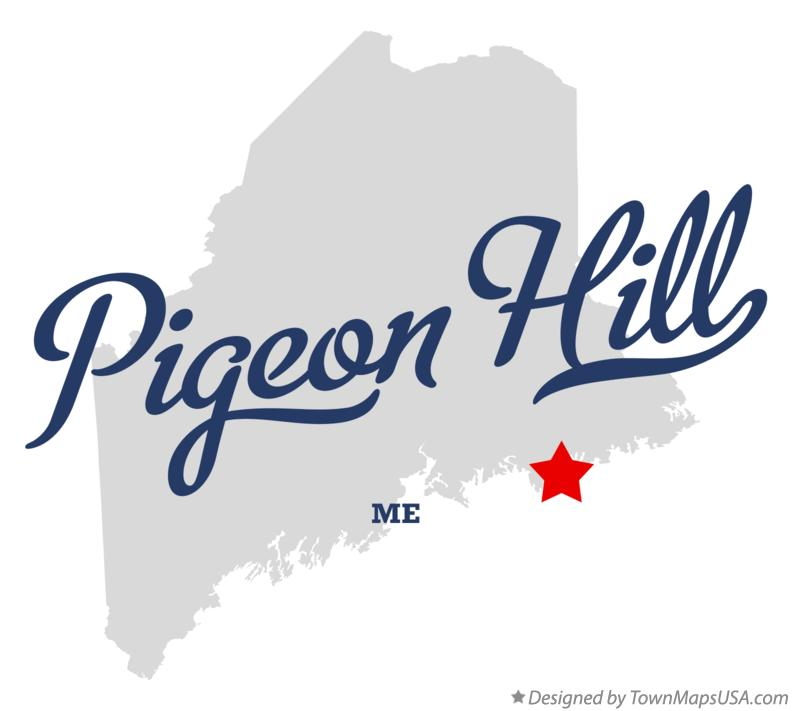 Map of Pigeon Hill Maine ME