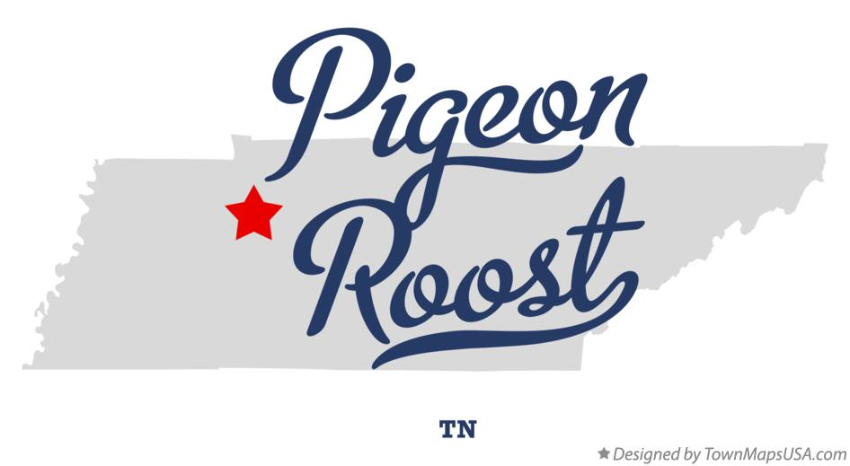 Map of Pigeon Roost Tennessee TN
