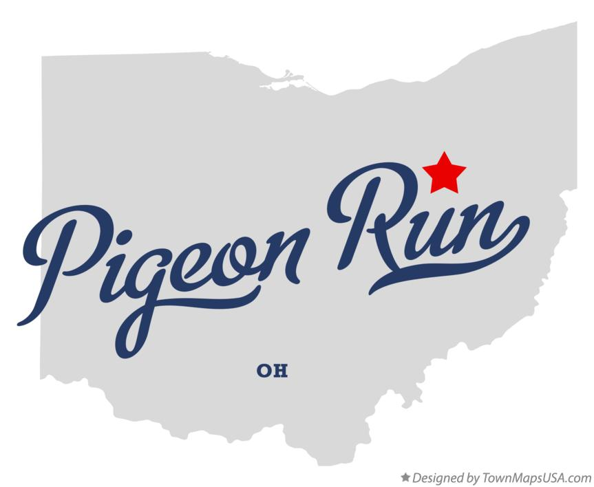 Map of Pigeon Run Ohio OH