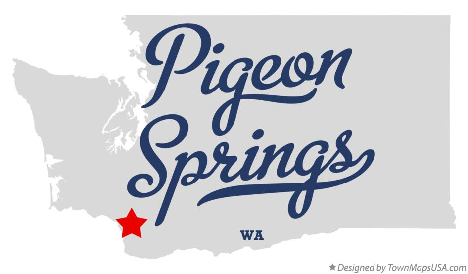 Map of Pigeon Springs Washington WA