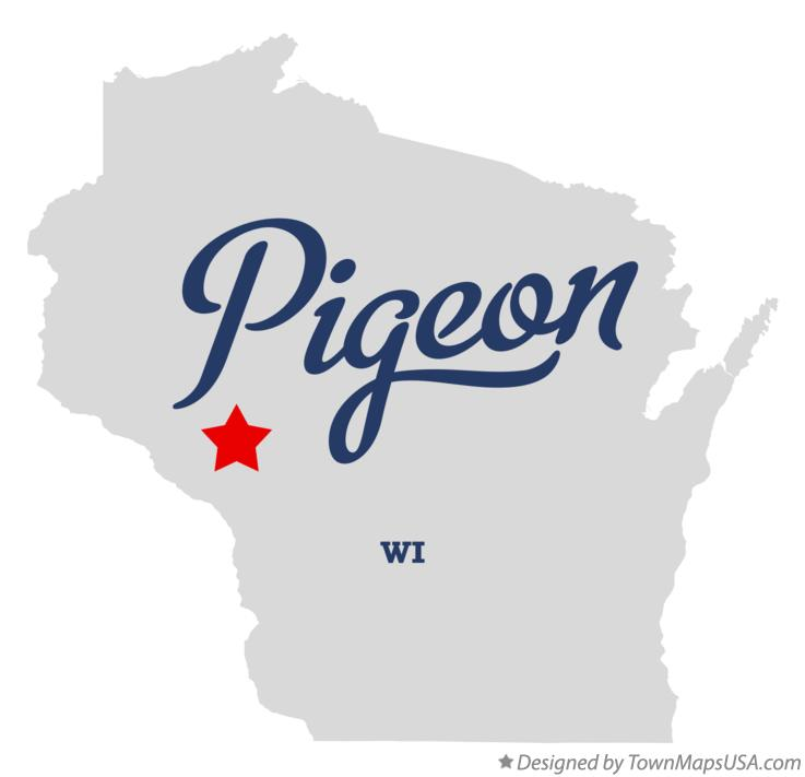 Map of Pigeon Wisconsin WI