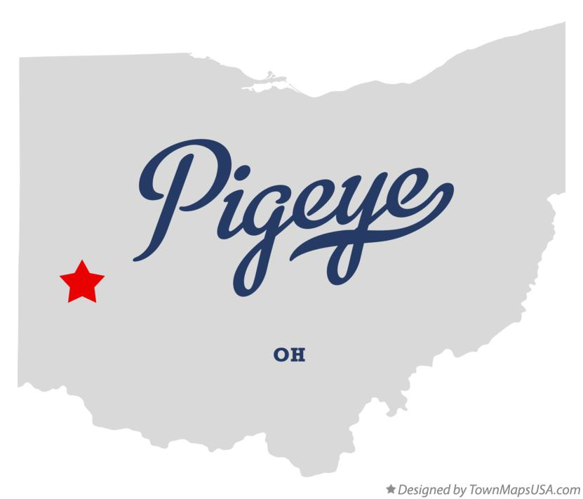 Map of Pigeye Ohio OH