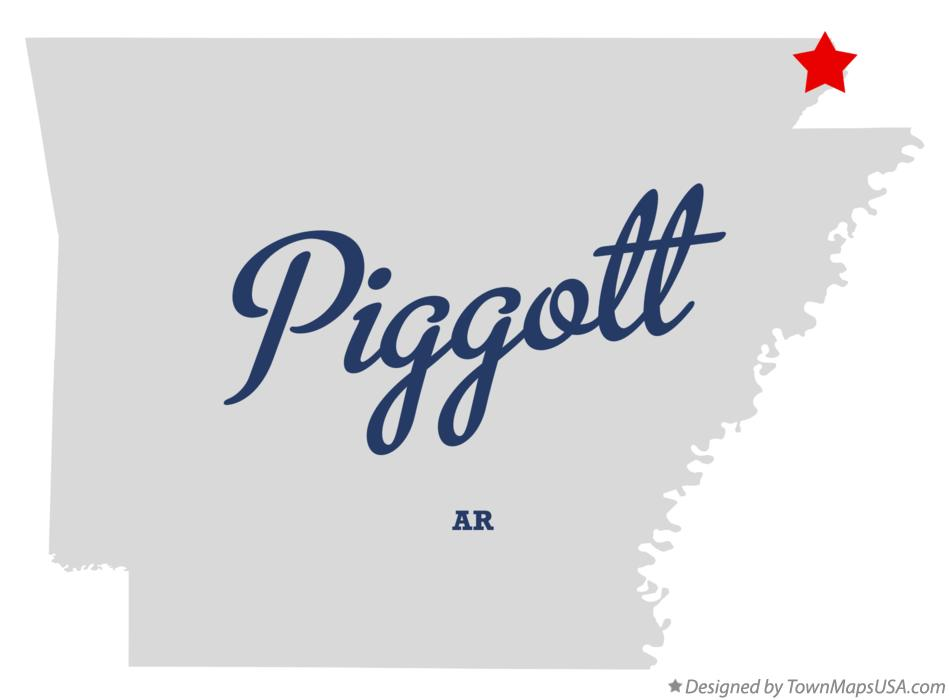 Map of Piggott Arkansas AR