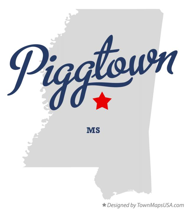 Map of Piggtown Mississippi MS