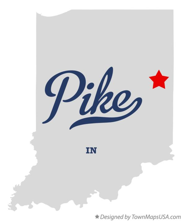 Map of Pike Indiana IN