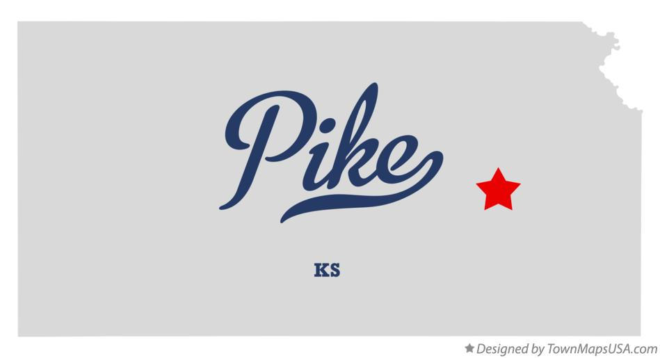 Map of Pike Kansas KS