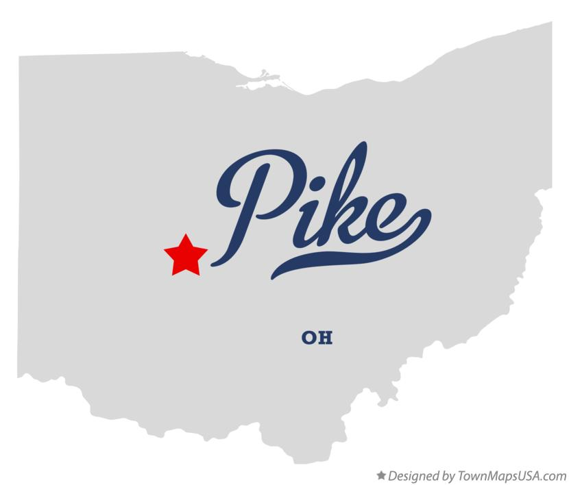 Map of Pike Ohio OH