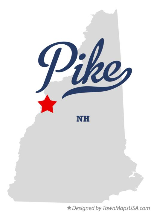 Map of Pike New Hampshire NH