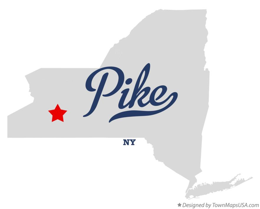 Map of Pike New York NY