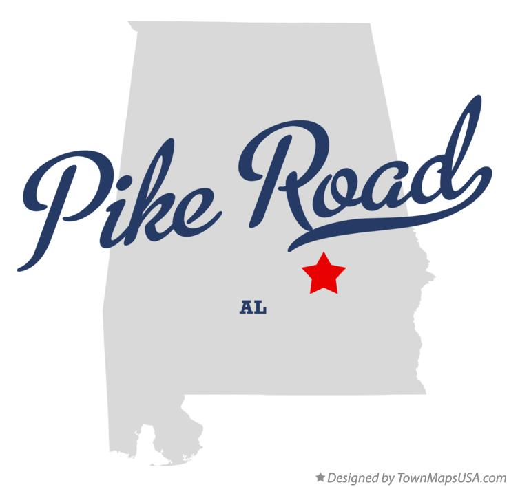 Map of Pike Road Alabama AL