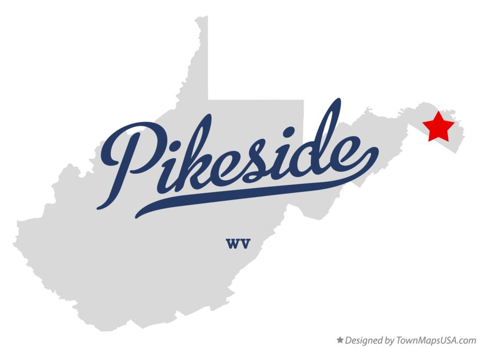 Map of Pikeside West Virginia WV