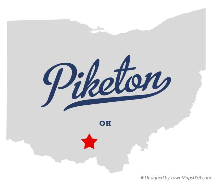 Map of Piketon Ohio OH