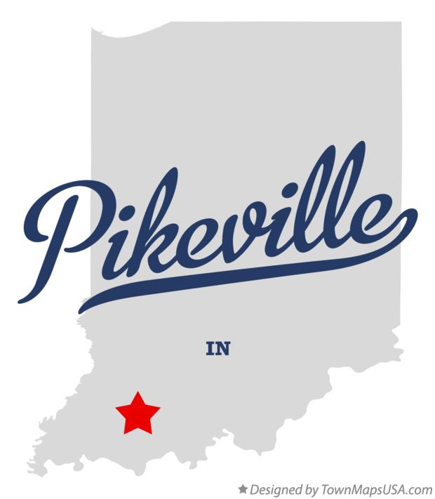 Map of Pikeville Indiana IN
