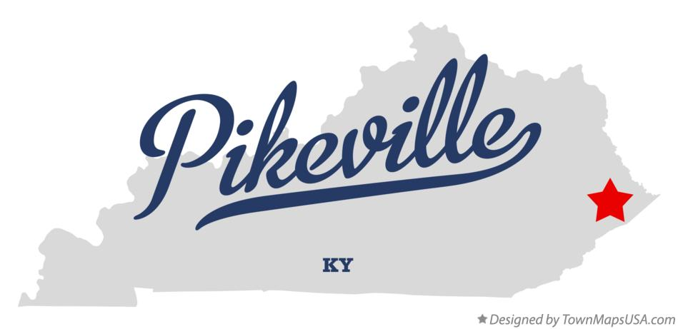 Map of Pikeville Kentucky KY