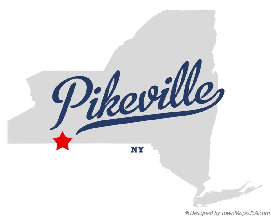 Map of Pikeville New York NY