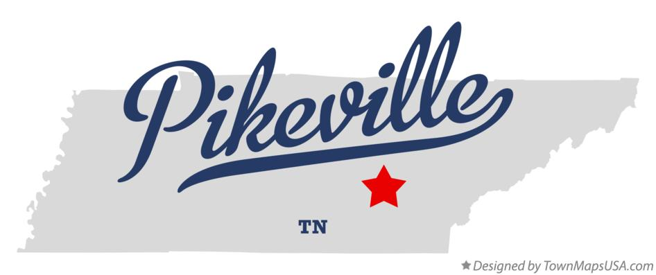Map of Pikeville Tennessee TN