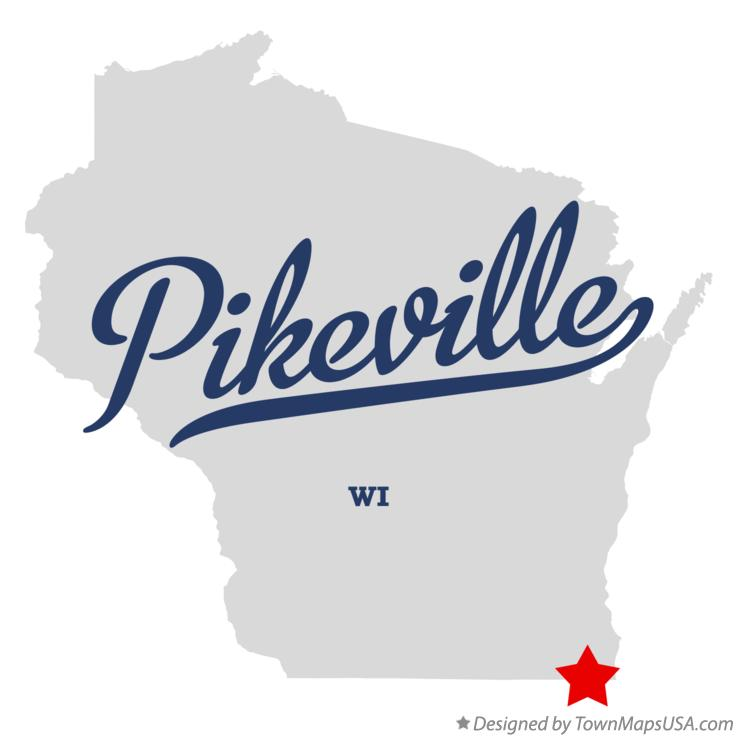 Map of Pikeville Wisconsin WI