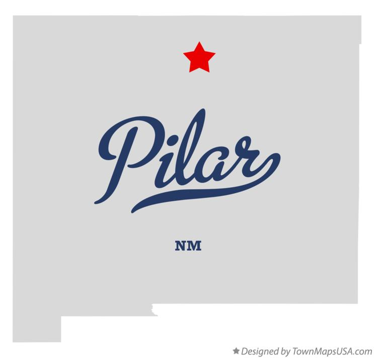 Map of Pilar New Mexico NM