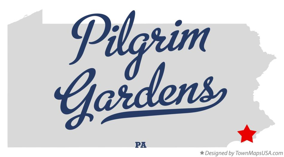 Map of Pilgrim Gardens Pennsylvania PA