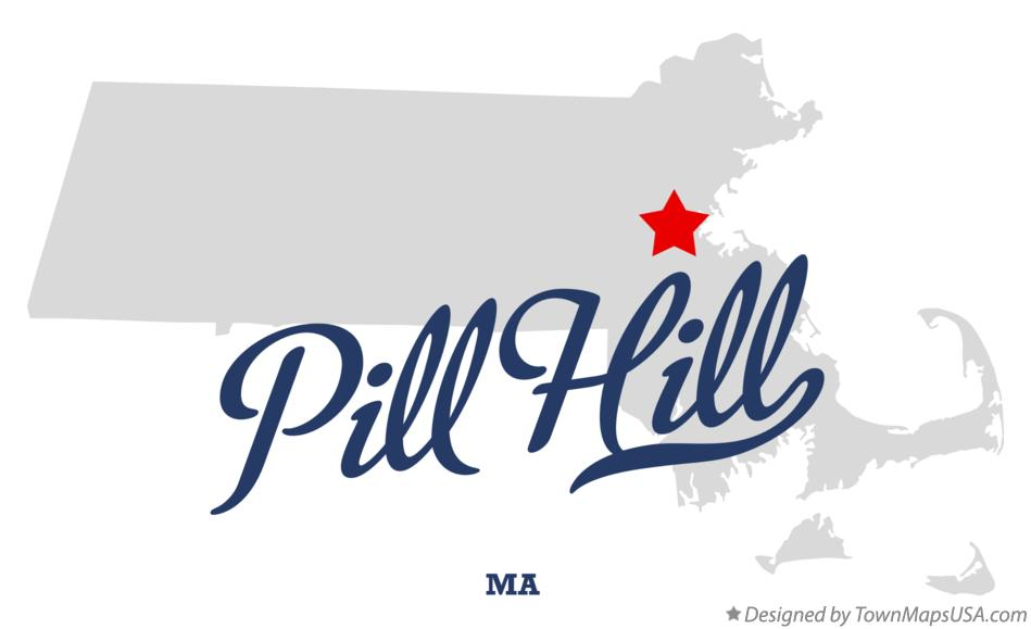 Map of Pill Hill Massachusetts MA