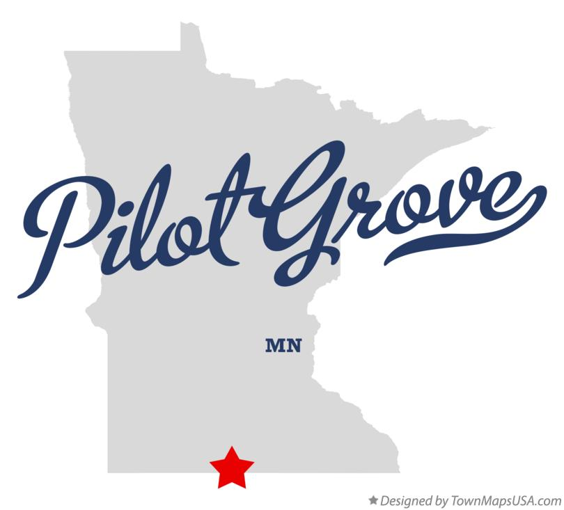 Map of Pilot Grove Minnesota MN
