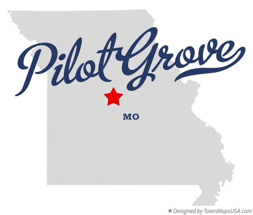 Map of Pilot Grove Missouri MO