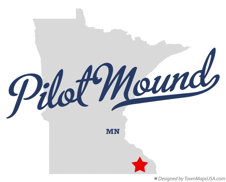 Map of Pilot Mound Minnesota MN