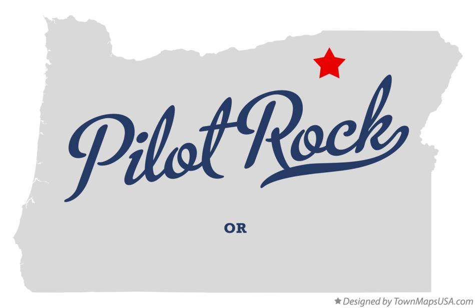 Map of Pilot Rock Oregon OR