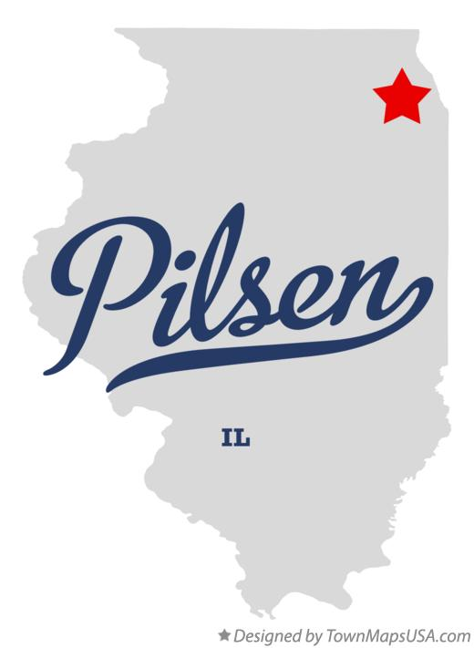 Map of Pilsen Illinois IL