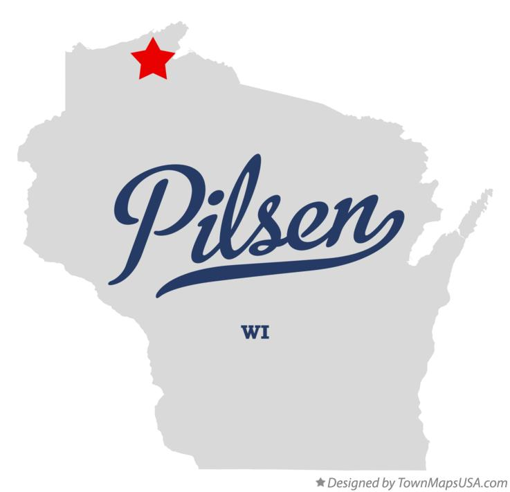 Map of Pilsen Wisconsin WI