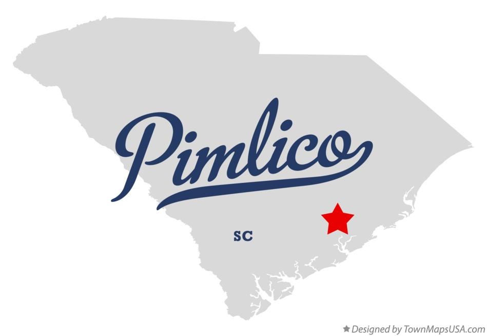 Map of Pimlico South Carolina SC