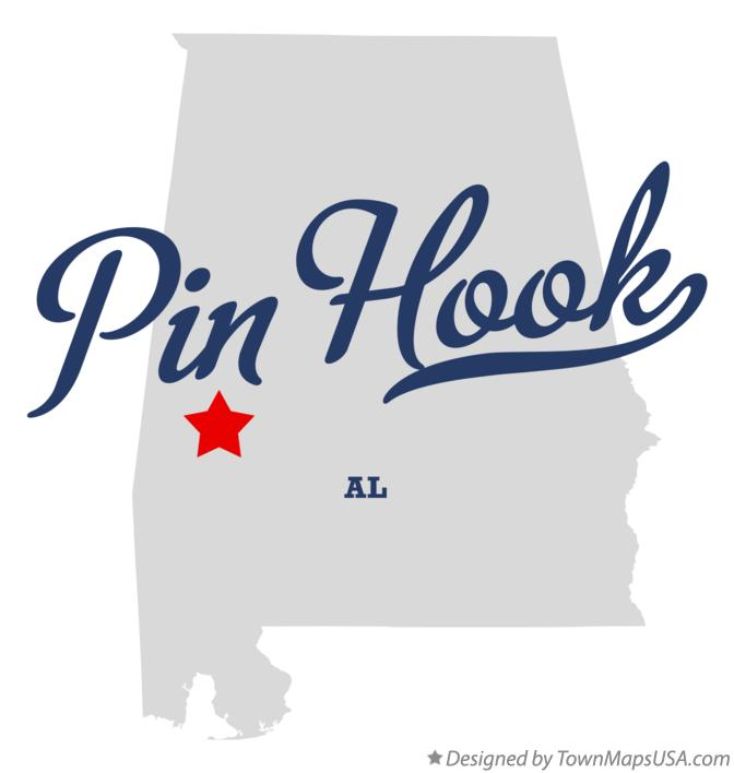 Map of Pin Hook Alabama AL
