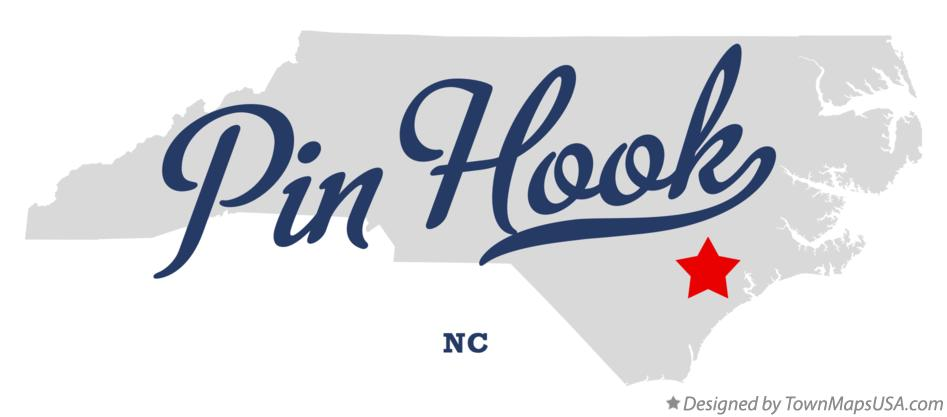 Map of Pin Hook North Carolina NC