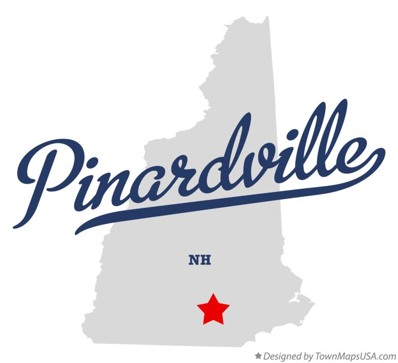 Map of Pinardville New Hampshire NH