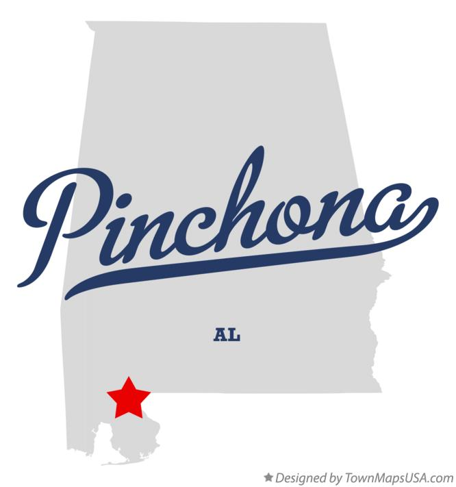 Map of Pinchona Alabama AL