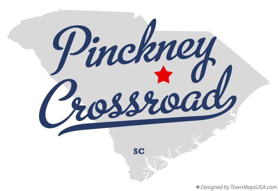Map of Pinckney Crossroad South Carolina SC