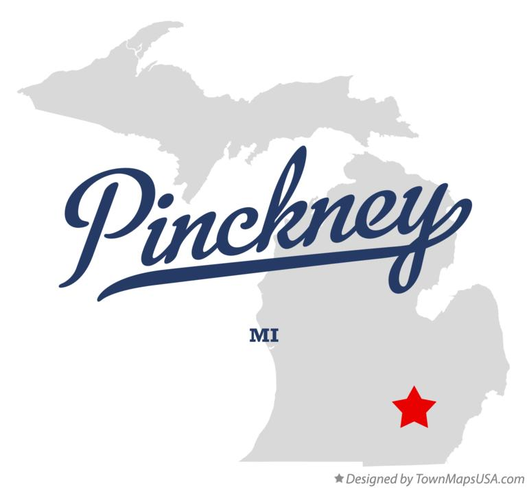Map of Pinckney Michigan MI