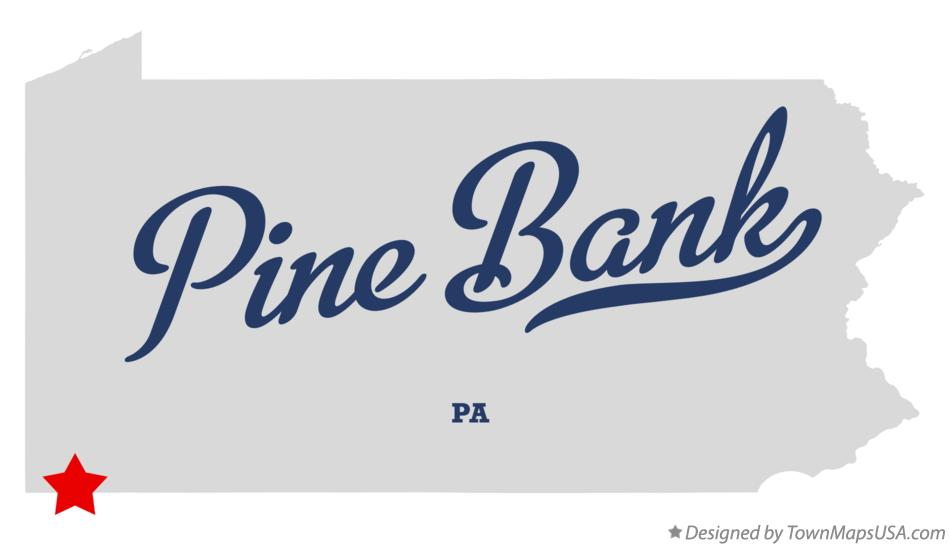 Map of Pine Bank Pennsylvania PA