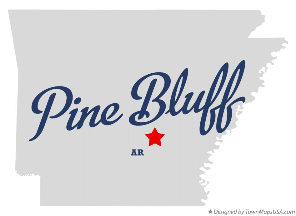 Map of Pine Bluff, AR, Arkansas