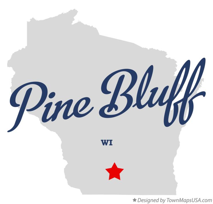 Map of Pine Bluff Wisconsin WI
