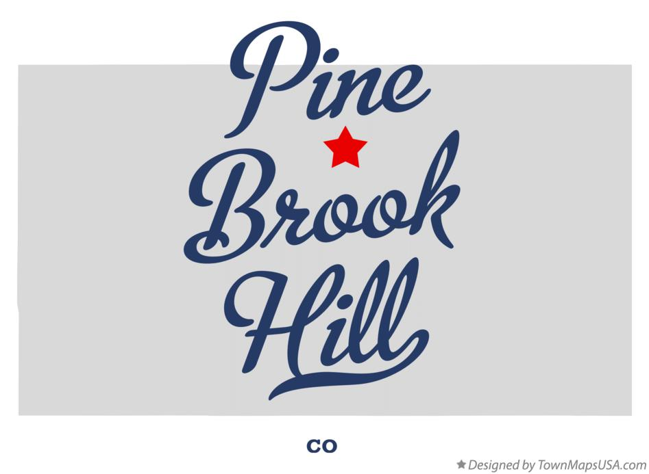 Map of Pine Brook Hill Colorado CO