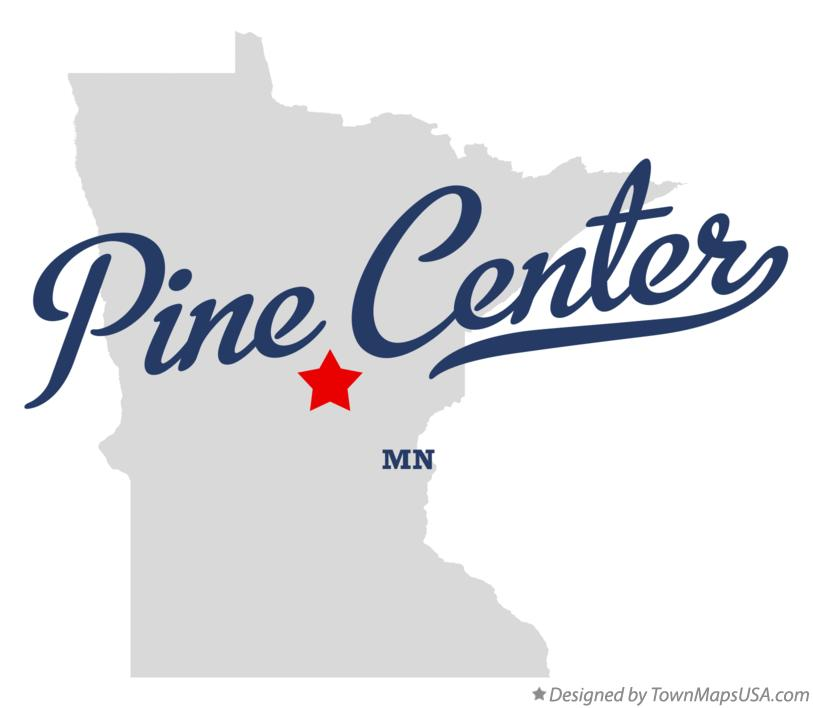 Map of Pine Center Minnesota MN